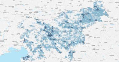 Zemljevid pokritosti prvega 5G omrežja v Sloveniji